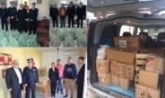 Συγκέντρωση τροφίμων από την αστυνομία. Φωτογραφίες από Θεσπρωτία και Πρέβεζα